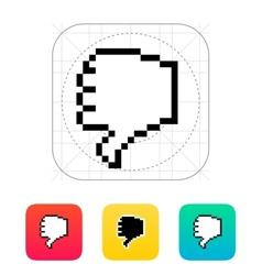 Finger down Pixel hand cursor icon vector image