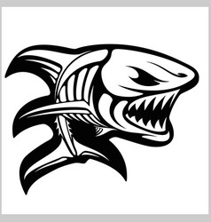 fish skeleton on white vector image