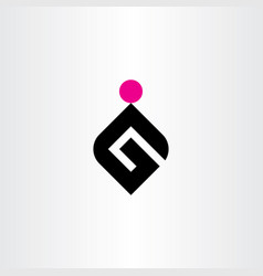 g letter logo black magenta icon symbol element vector image