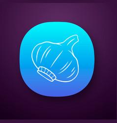 Garlic color app icon vector