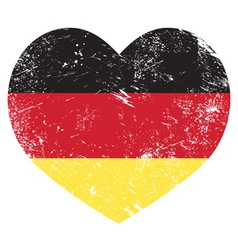 Germany heart shaped retro flag vector