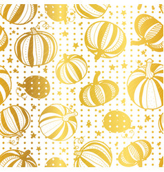 golden white pumpkins polka dots seamless vector image