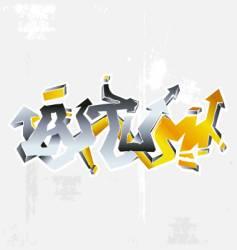 graffiti autumn vector image