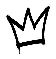 Graffiti spray crown isolated on white background vector