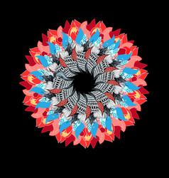graphic circular pattern vector image
