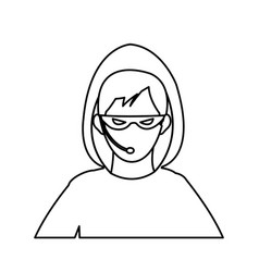 Hacker representation icon image vector