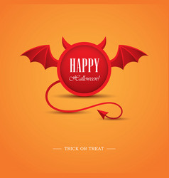 halloween design template with devil vector image