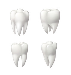 Healthy teeth icon set for dentistry design vector