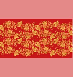 Hohloma waves seamless fabric texture vector