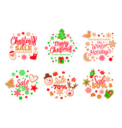 isolated cookie made of gingerbread pine presents vector image