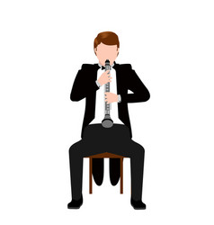 isolated musician icon vector image
