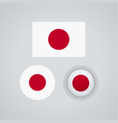 japanese trio flags vector image