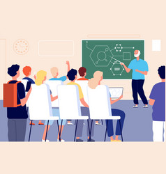 lecture student class education training lesson vector image