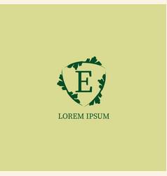 Letter e alphabetic logo design template isolated vector