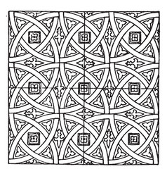 Medieval tile circle pattern is a stained glass vector