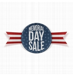 Memorial Day Sale greeting Sign and Ribbon vector