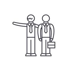 mentoring line icon concept mentoring vector image
