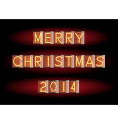 Merry Christmas 2014 vector