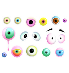 Monsters eyes collection clipart vector