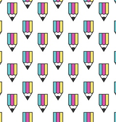 Multicolor pencil seamless pattern vector image