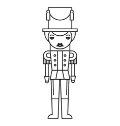 Nutcracker Outlined Silhouette vector