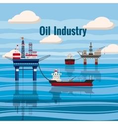 Oil industry concept cartoon style vector