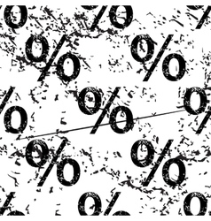 Percent pattern grunge monochrome vector