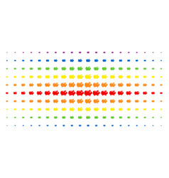 piggy bank spectrum halftone matrix vector image