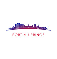 Port-au-prince skyline silhouette design vector