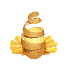 potato vegetable and french vector image