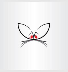 rabbit symbol line icon element vector image