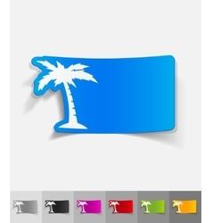 Realistic design element palm vector