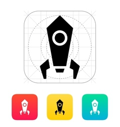 Rocket icon on white background vector