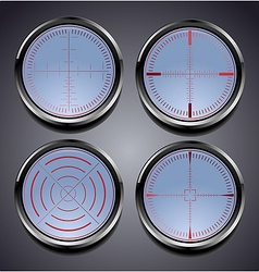 Set of four different crosshairs vector