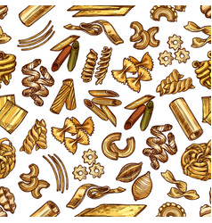 set with samples of italian pasta vector image