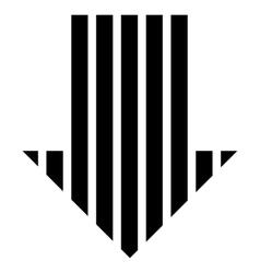 Stripe Arrow Down Flat Icon vector
