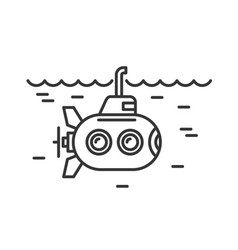 submarine icon on white background logo vector image
