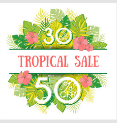 Summer sale background with tropical palm leaves 1 vector