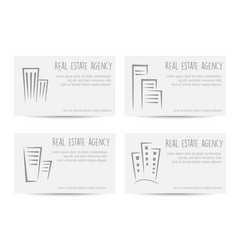 template of business cards vector image