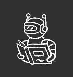 Text reading bot chalk icon screen reader vector