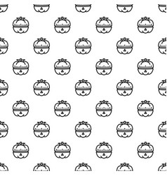 vegetable kitchen timer pattern seamless vector image
