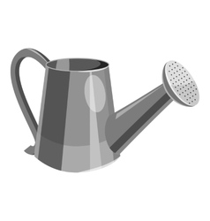 Watering can icon gray monochrome style vector image
