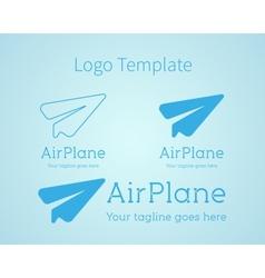 Airplane - logo concept Aircraft vector image