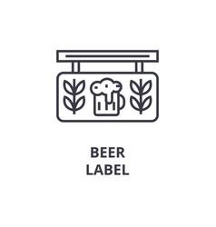 beer label line icon outline sign linear symbol vector image