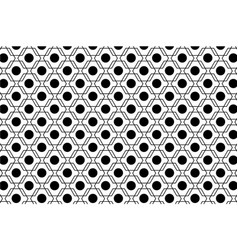 black and white abstract seamless geometric vector image vector image