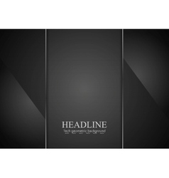 Black glass abstract background vector