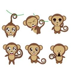 Funny Monkeys vector image