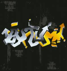 graffiti autumn vector image vector image