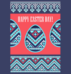 holiday spring greeting card eggs paper cut and vector image vector image