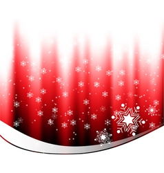 White snow falling on red background vector image vector image